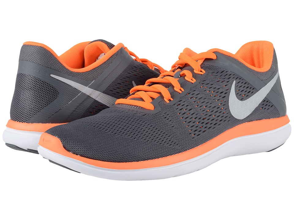 Nike - Flex 2016 RN (Dark Grey/Total Orange/Black/Metallic Silver) Men's Running Shoes