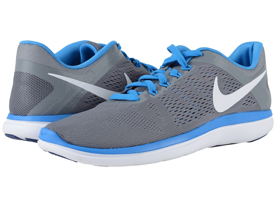 Nike - Flex 2016 RN (Cool Grey/Loyal Blue/Photo Blue/White) Men's Running Shoes