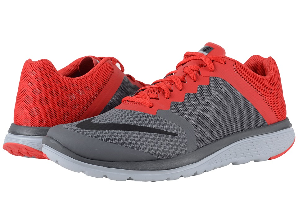 Nike - FS Lite Run 3 (Dark Grey/University Red/Wolf Grey/Black) Men's Running Shoes