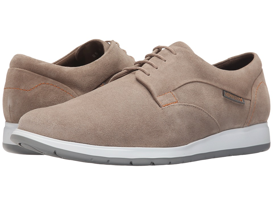 Mephisto - Valerio (Sand Suede) Men's Lace up casual Shoes