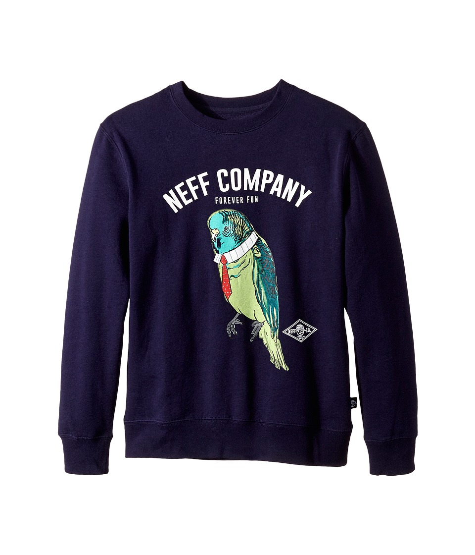 Neff Kids - Bird Jobs Crew (Big Kids) (Navy) Boy's Clothing