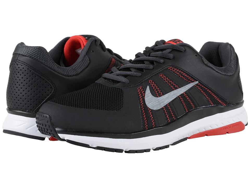Nike - Dart 12 (Black/University Red/Anthracite/MTLC Cool Grey) Men's Running Shoes