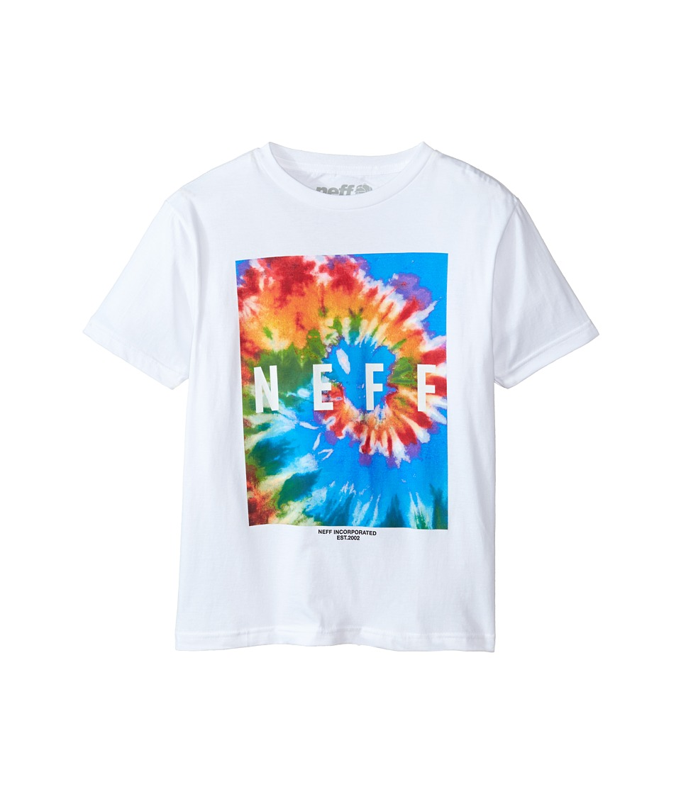 Neff Kids - Tie-Dye Howie Tee (Big Kids) (White) Boy's T Shirt