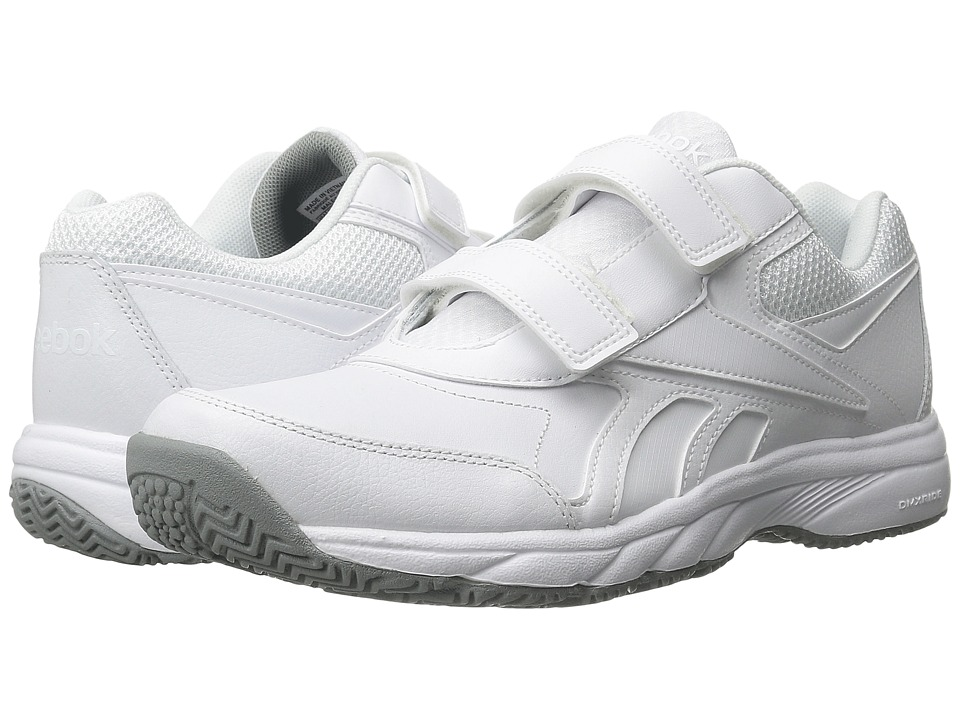 Reebok - Work N Cushion KC 2.0 (White/Flat Grey) Men's Walking Shoes