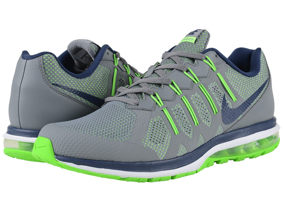 Nike - Air Max Dynasty (Cool Grey/Midnight Navy/Electric Green/White) Men's Running Shoes