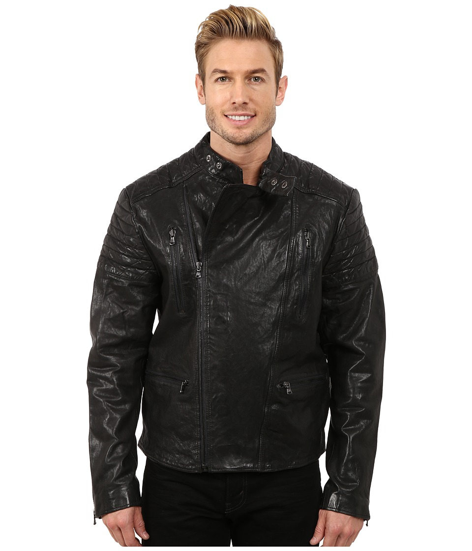Kenneth Cole Sportswear - Designer Moto Cross Jacket (Raw Steel) Men's Coat