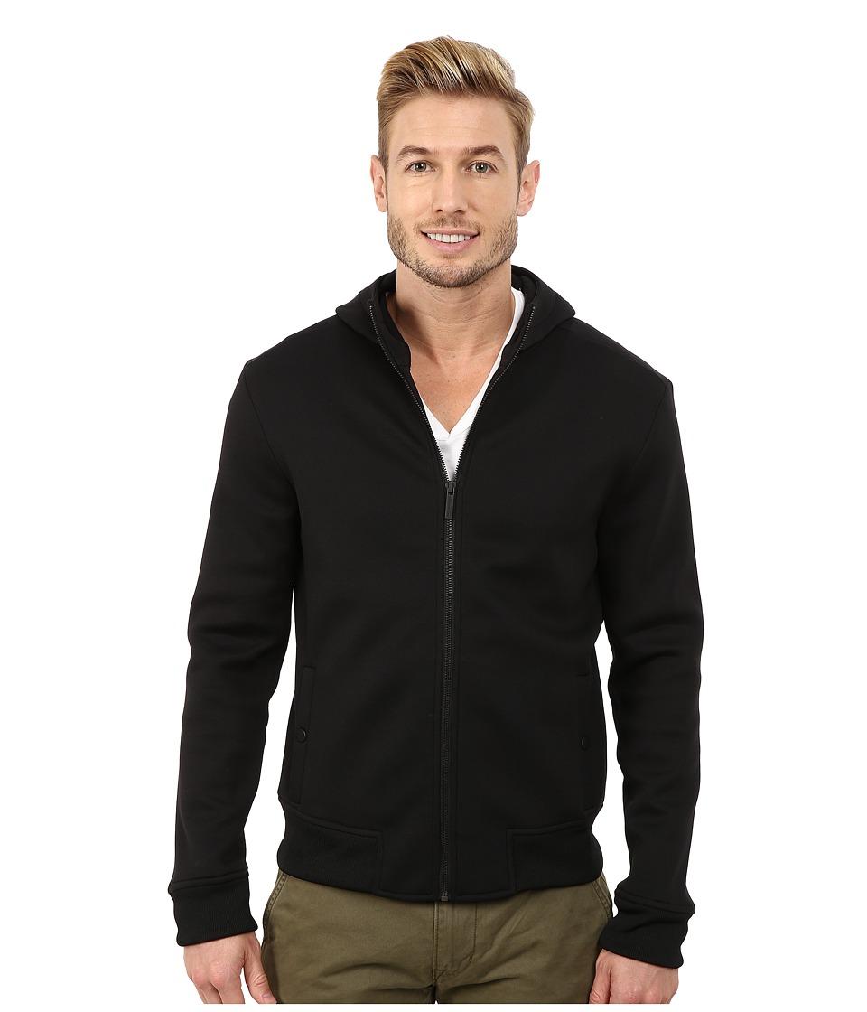 Kenneth Cole Sportswear - Bonded Knit Zip (Black) Men