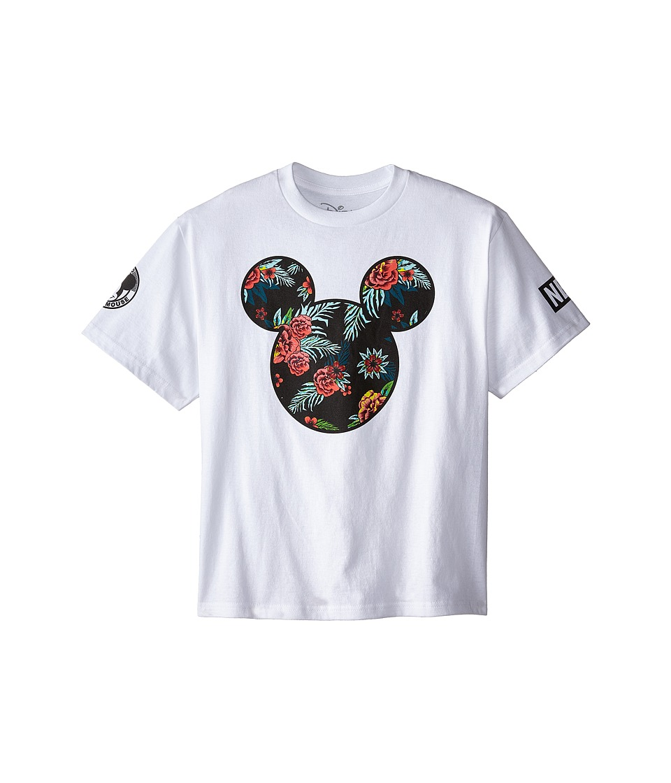 Neff Kids - Astro Floral Mickey Prime Tee (Big Kids) (White) Boy's T Shirt