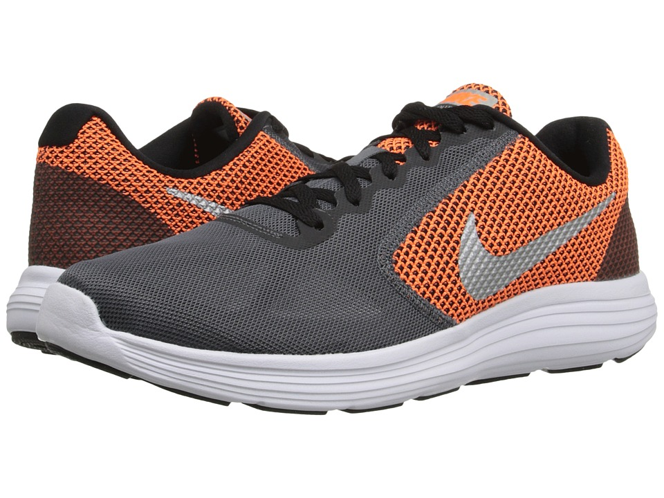 Nike - Revolution 3 (Dark Grey/Metallic Silver/Black/Wolf Grey) Men's Running Shoes