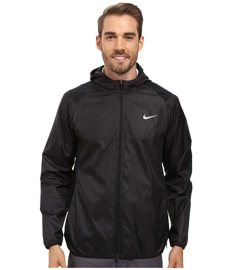 Nike Golf - Range Packable Hooded Jacket (Black/Anthracite/Flt Silver) Men's Coat