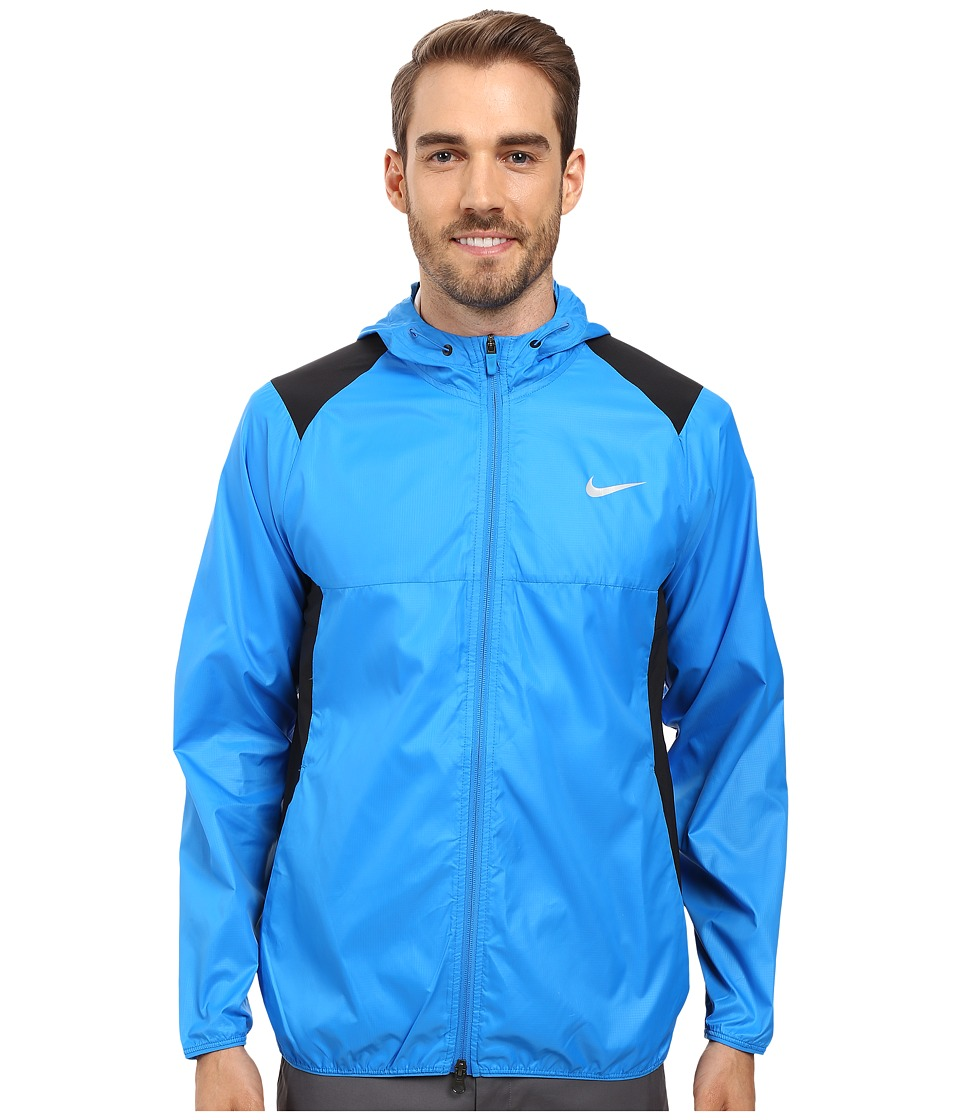 Nike Golf - Range Packable Hooded Jacket (Photo Blue/Midnight Navy/Flt Silver) Men's Coat