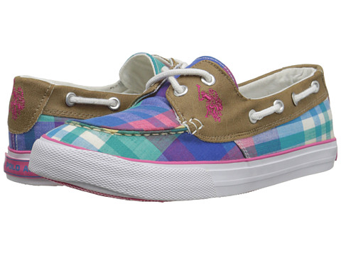 U.S. POLO ASSN. - Mate (Sky Blue Plaid) Women's Shoes