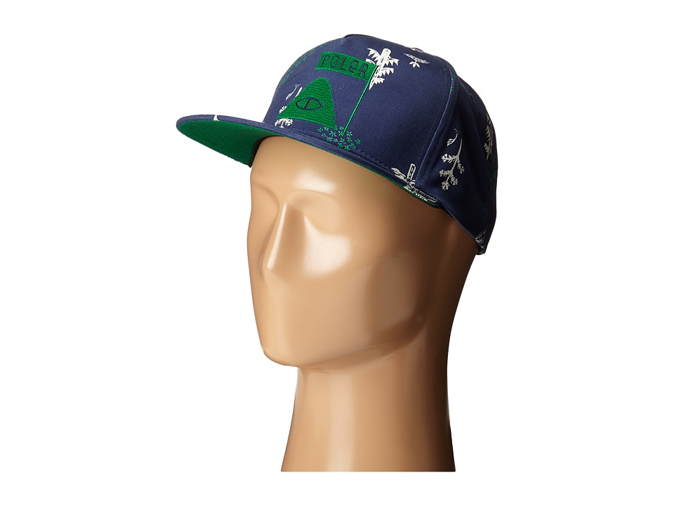 Poler - LD Trees Snapback Hat (Blue Steel Forestry) Caps