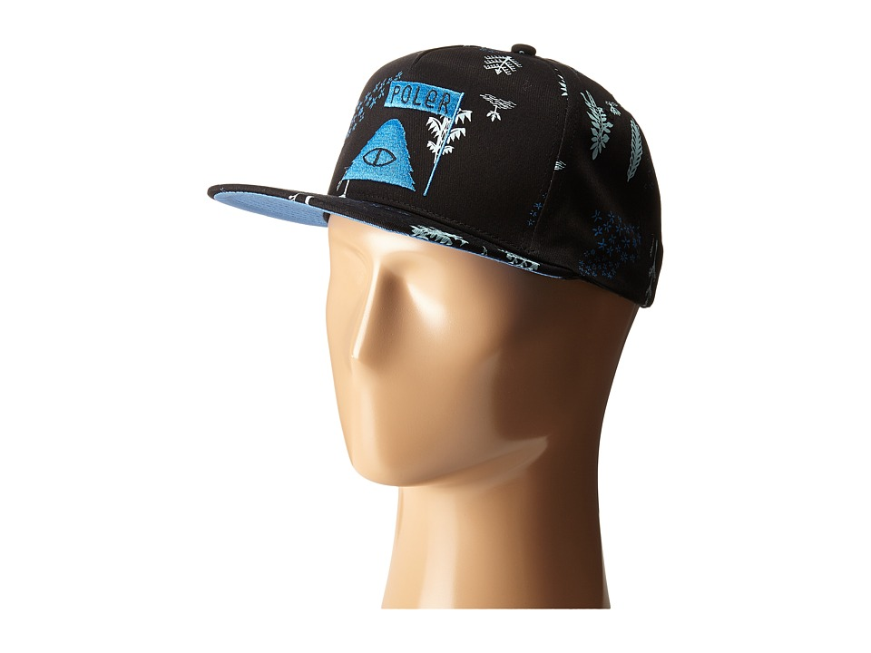 Poler - LD Trees Snapback Hat (Black Forestry) Caps
