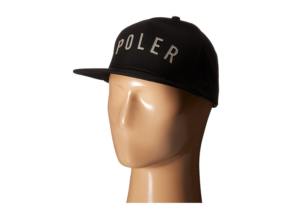 Poler - PS Snapback Hat (Black) Baseball Caps