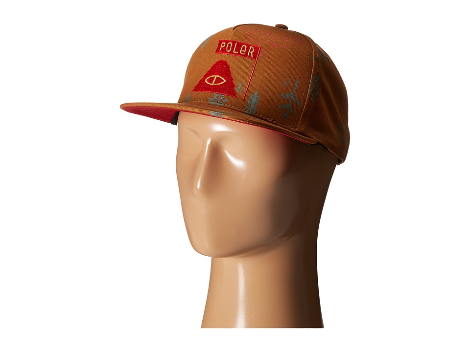 Poler - LD Trees Snapback Hat (Almond Forestry) Caps