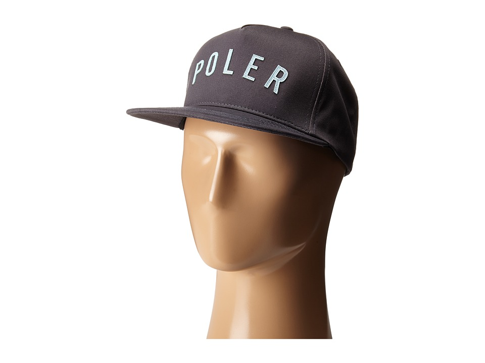 Poler - PS Snapback Hat (Grey) Baseball Caps