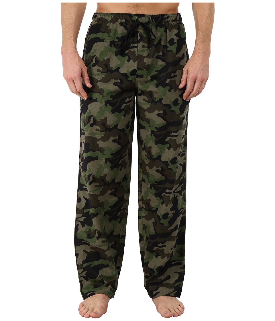 Jockey - Flannel Sleep Pants (Army Print) Men