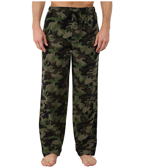 Jockey - Flannel Sleep Pants (Army Print) Men's Pajama