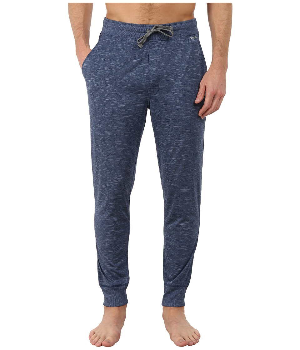Jockey - Poly Jersey Varigated Knit Sleep Pants (Heather Blue) Men's Pajama