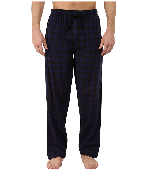 Jockey - Flannel Sleep Pants (Navy/Black Check) Men's Pajama