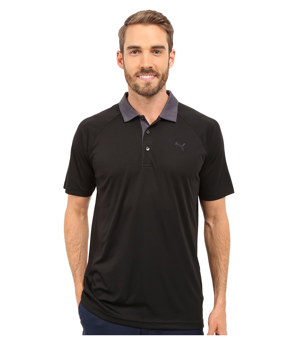 PUMA Golf - Short Sleeve Dynamic Vent Polo (Black) Men's Short Sleeve Pullover
