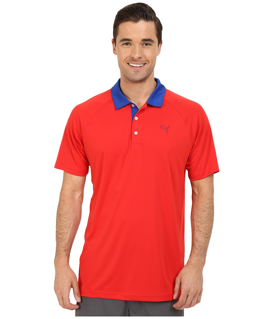 PUMA Golf - Short Sleeve Dynamic Vent Polo (High Risk Red) Men's Short Sleeve Pullover