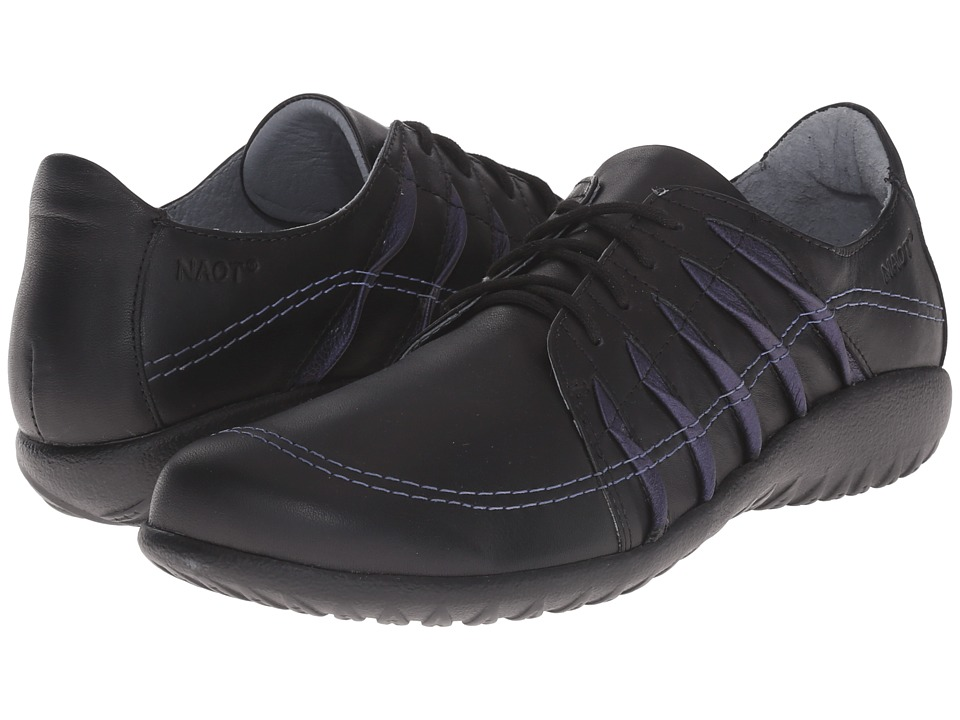 Naot Footwear - Tanguru (Black Leather/Violet Leather) Women