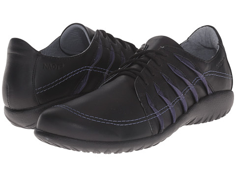 Naot Footwear - Tanguru (Black Leather/Violet Leather) Women's Shoes