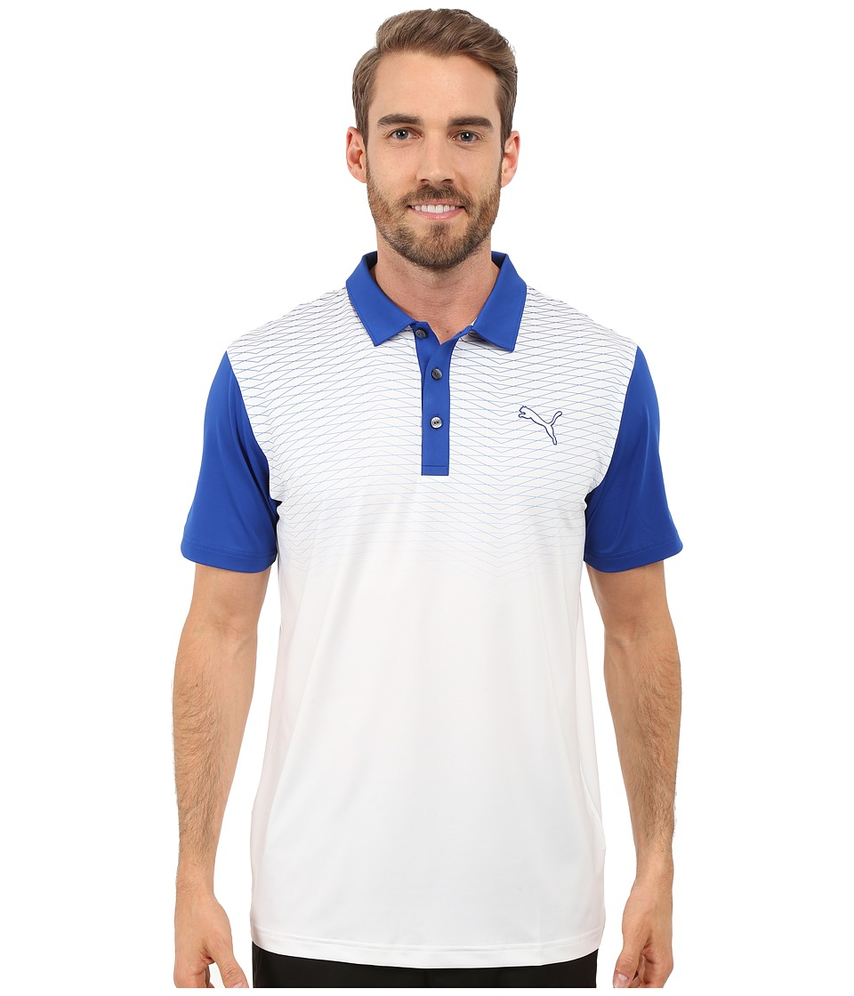 PUMA Golf - GT Color Block Fade Polo (Surf The Web) Men's Clothing
