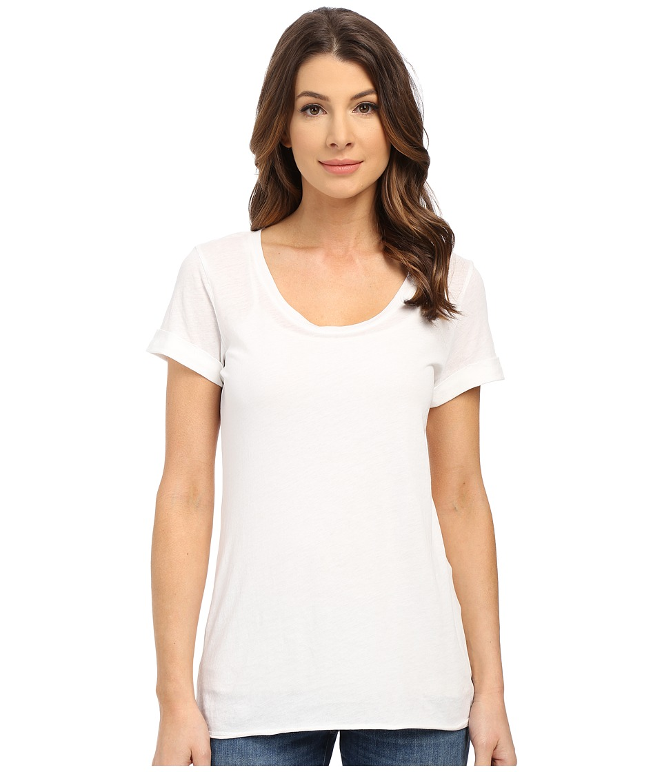 Splendid - Vintage Whisper Short Sleeve Scoop Tee (Paper) Women's T Shirt