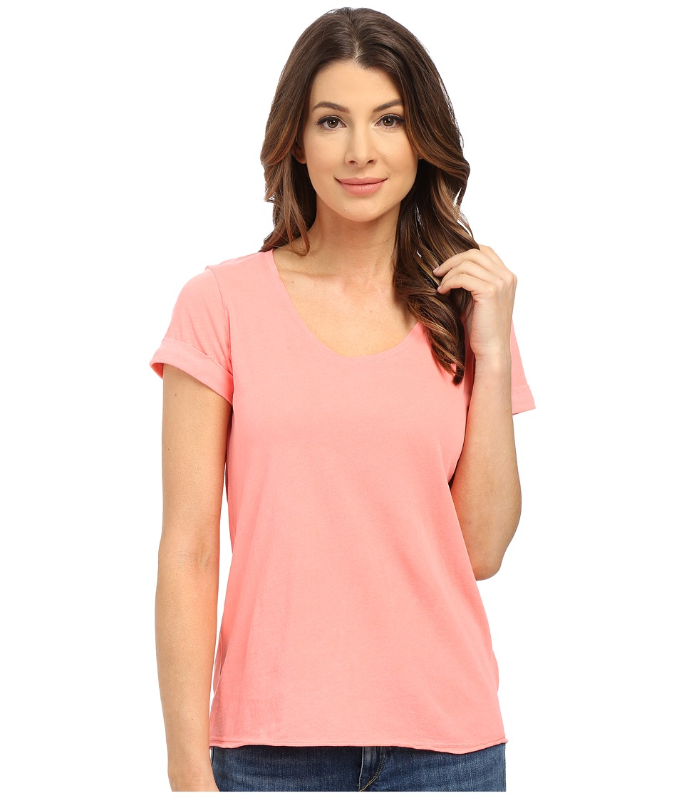 Splendid Vintage Whisper Short Sleeve Scoop Tee (Vintage Coral Pink) Women