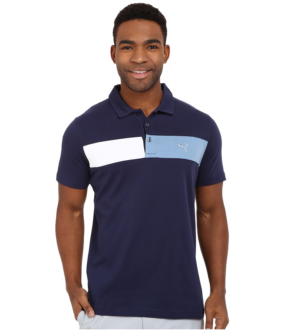 PUMA Golf - Short Sleeve Cool Touch Polo (Peacoat) Men's Short Sleeve Pullover