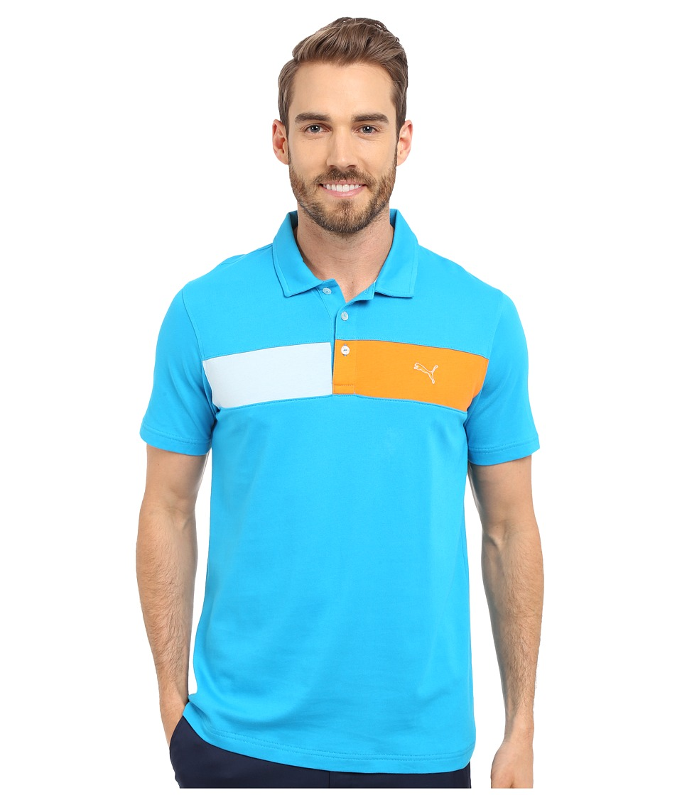 PUMA Golf - Short Sleeve Cool Touch Polo (Atomic Blue) Men's Short Sleeve Pullover