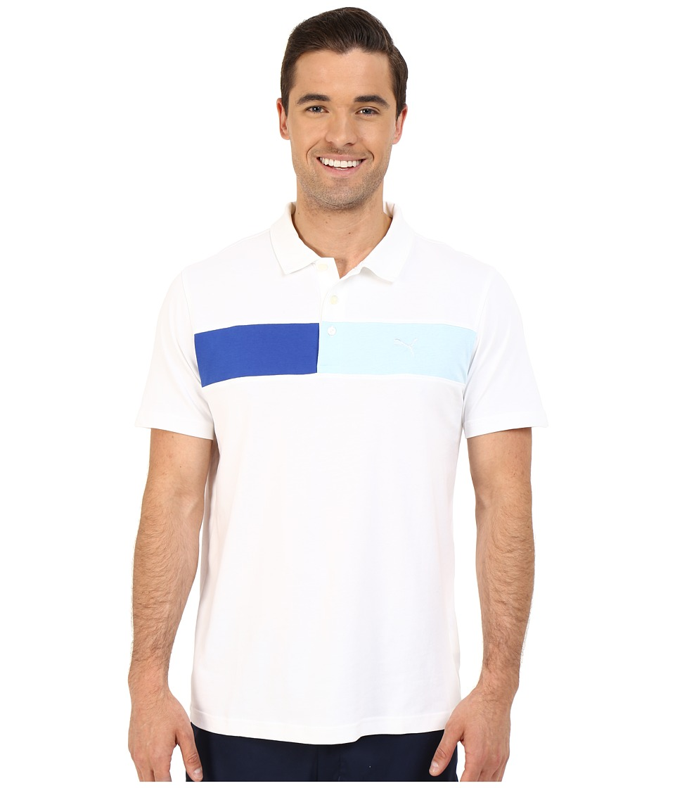 PUMA Golf - Short Sleeve Cool Touch Polo (Bright White) Men's Short Sleeve Pullover