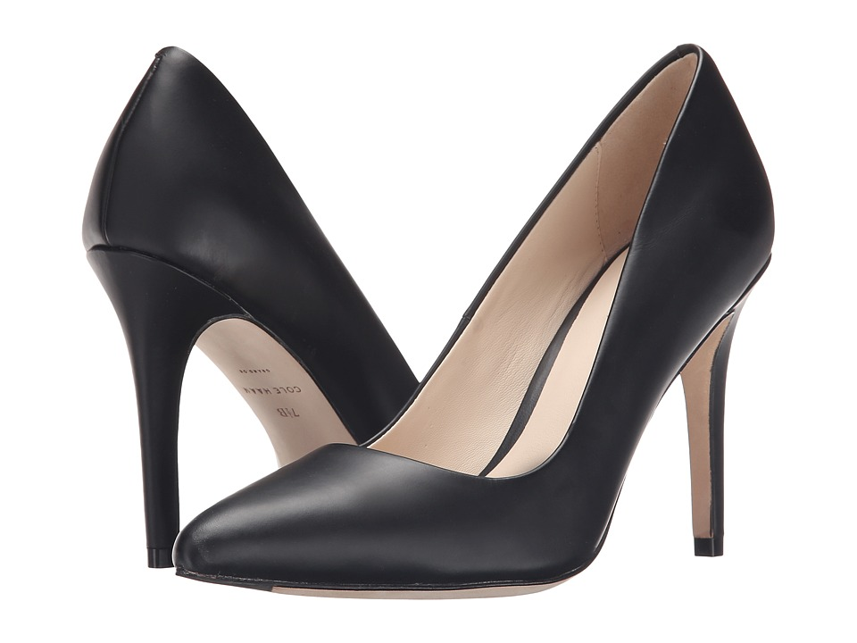 Cole Haan Emery Pump 100 (Black Matte Leather) Women