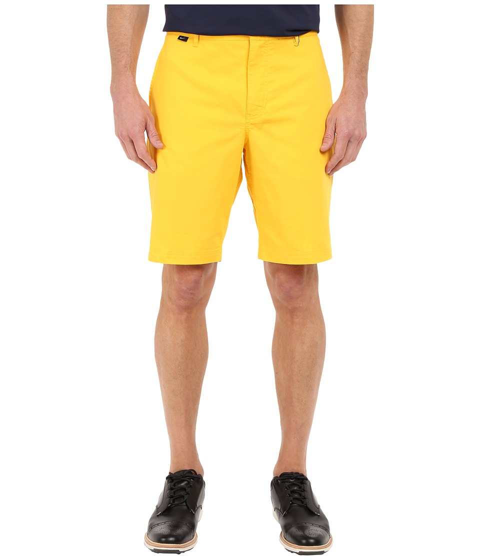Nike Golf - Modern Fit Washed Shorts (Varsity Maize/Midnight Navy/Vivid Orange/Wolf Grey) Men's Shorts