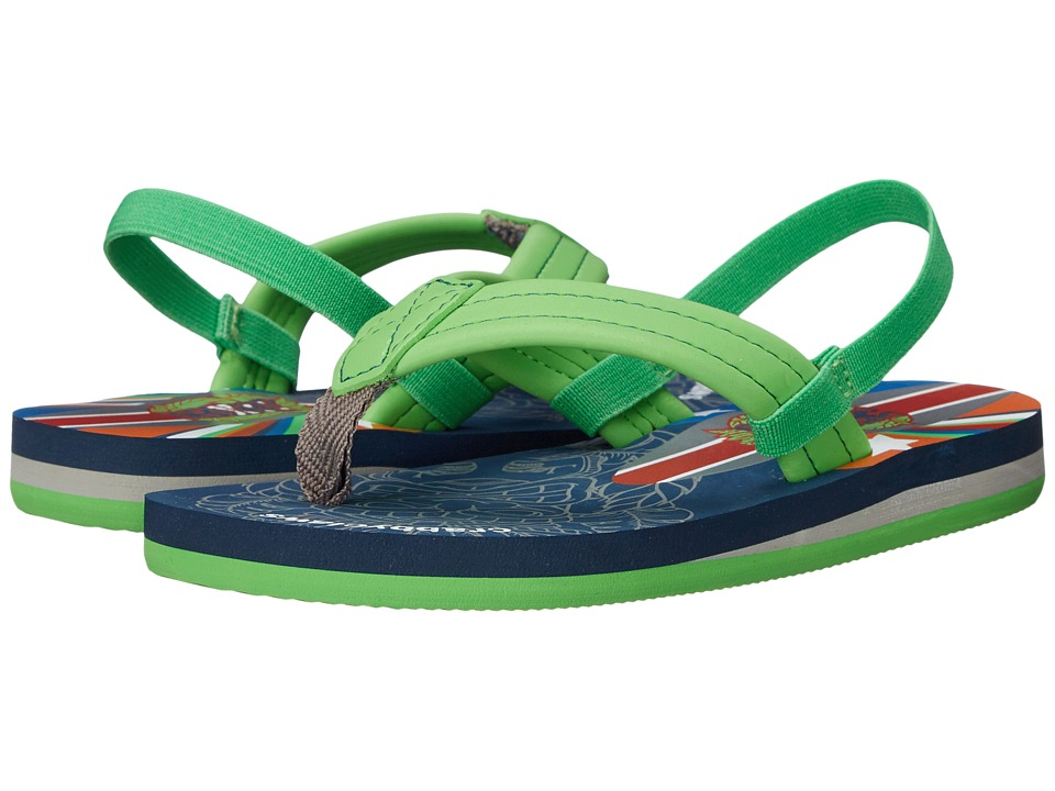 Crabbyclaws - Totem (Toddler/Little Kid/Big Kid) (Green) Boy's Shoes