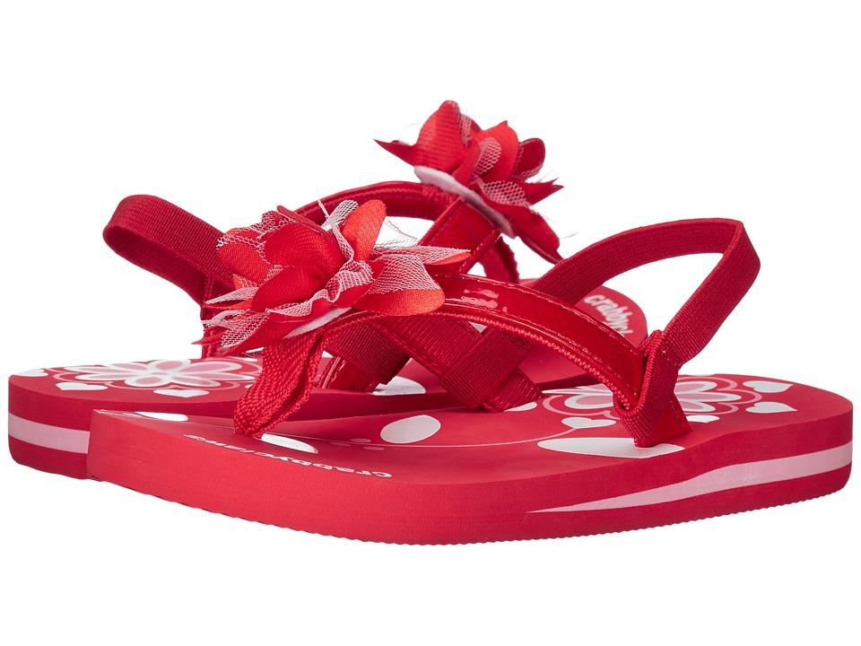 Crabbyclaws - Flower (Toddler/Little Kid/Big Kid) (Red Patent) Girl's Shoes