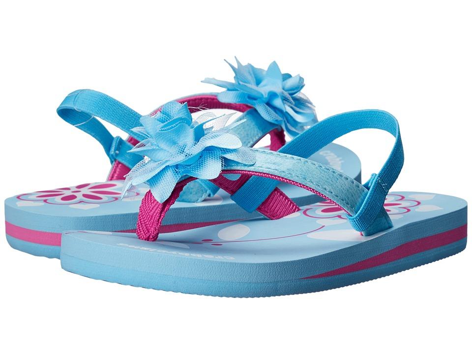 Crabbyclaws - Flower (Toddler/Little Kid/Big Kid) (Light Blue/Fuchsia) Girl's Shoes