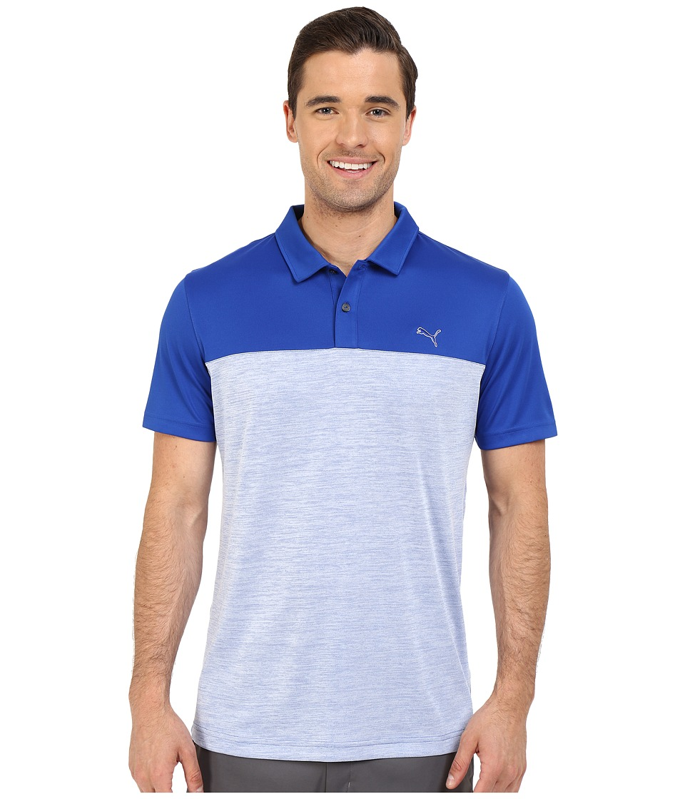 PUMA Golf - Short Sleeve Tailored Platform Polo (Surf the Web) Men's Short Sleeve Pullover