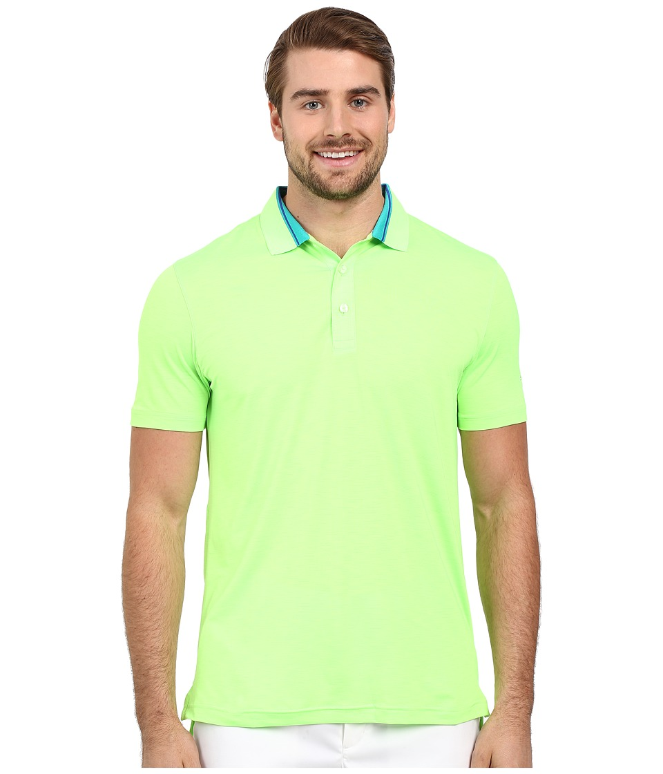 PUMA Golf - Short Sleeve Tailored Stripe Polo (Green Gecko) Men's Short Sleeve Pullover
