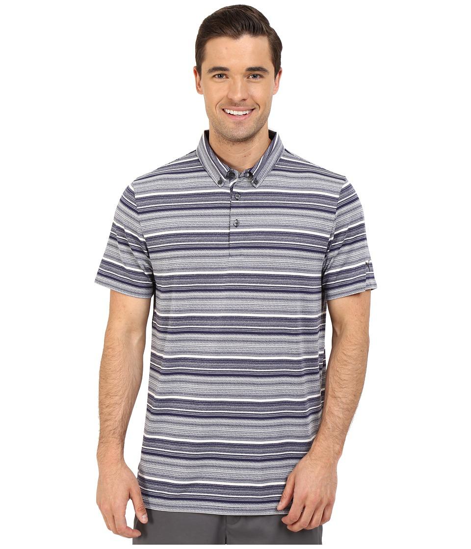 PUMA Golf - Short Sleeve Tailored Multi Stripe Polo (Peacoat) Men's Short Sleeve Knit