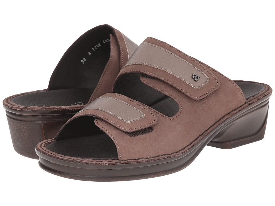 ara - Imogen (Dark Taupe Nubuck/Titan Metallic) Women's Sandals
