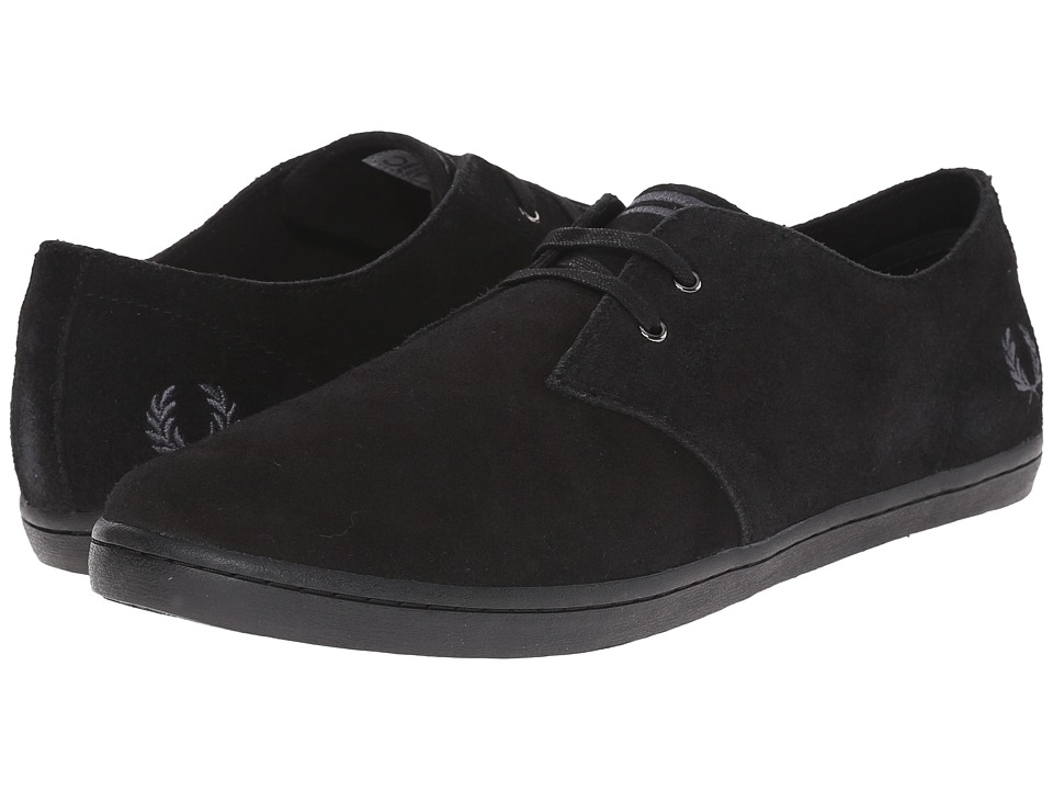 Fred Perry - Byron Low Suede (Black/Charcoal) Men's Shoes