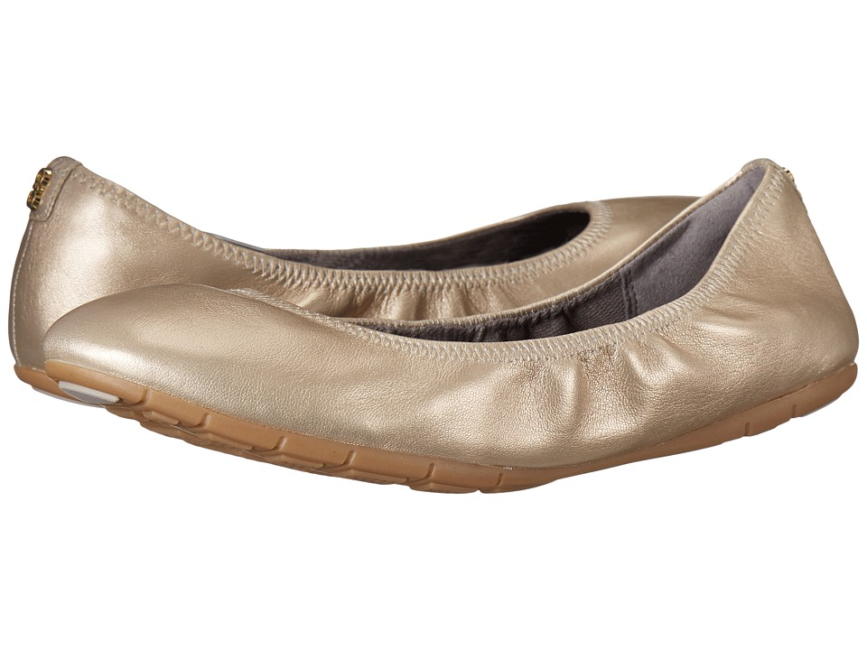 Cole Haan Zerogrand Stagedoor Ballet Plain (Soft Gold Metallic) Women