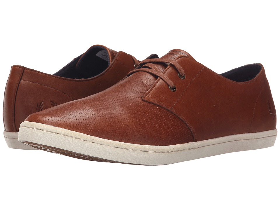 Fred Perry - Byron Low Perf Leather (Tan) Men's Lace up casual Shoes