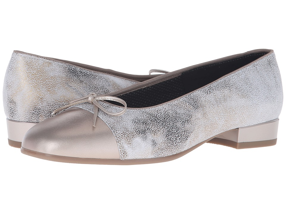 ara - Bel (Taupe Paradise/Silver Metallic Toe) Women's Slip-on Dress Shoes