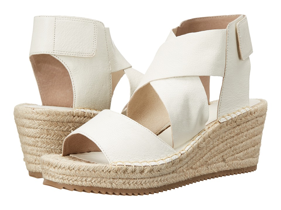 Eileen Fisher - Willow (Bone Tumbled Leather) Women's Wedge Shoes