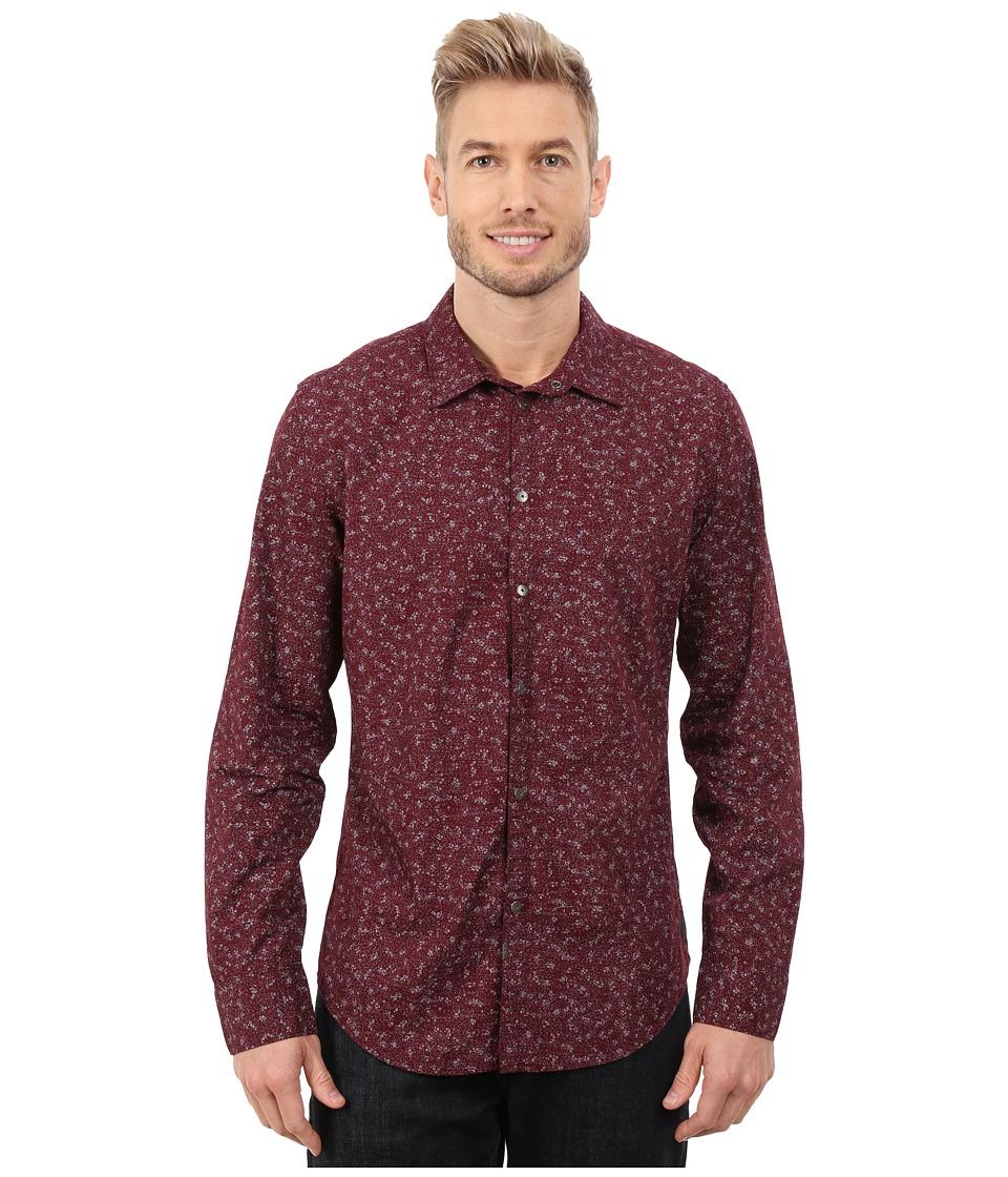 Calvin Klein Jeans - Micro Floral Shirt (Deep Oxblood) Men